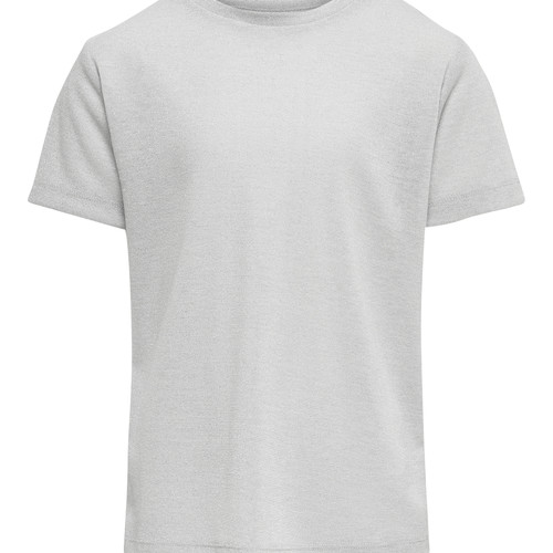 Clothing Girl Short-sleeved t-shirts Only KONSILVERY Silver