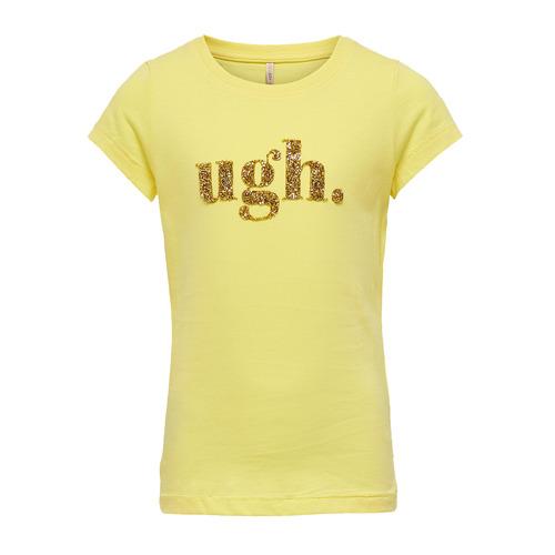 Clothing Girl short-sleeved t-shirts Only KONJULLA Yellow