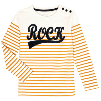 Clothing Girl Long sleeved tee-shirts Name it NKFTOSSA White / Yellow