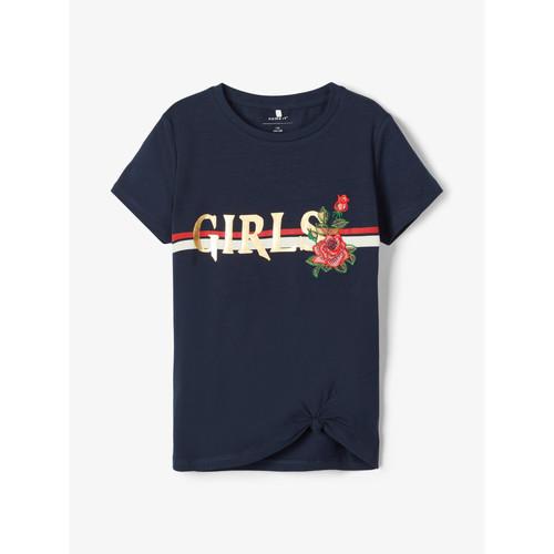 Clothing Girl short-sleeved t-shirts Name it NKFBARBRA Marine