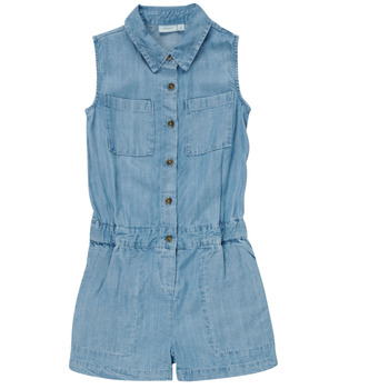 Clothing Girl Jumpsuits / Dungarees Name it NKFBATYTTE Blue