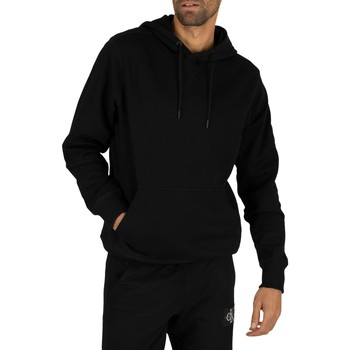 Clothing Men Sweaters Calvin Klein Jeans Monogram Sleeve Badge Pullover Hoodie black