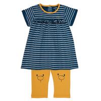 Clothing Girl Short Dresses Noukie's AYOUB Blue / Yellow