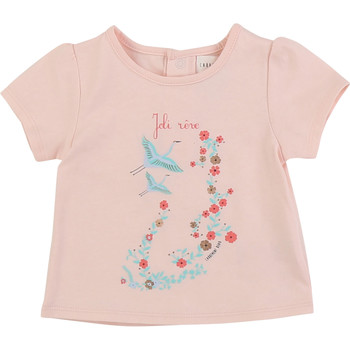Clothing Girl short-sleeved t-shirts Carrément Beau JUSTINE Pink