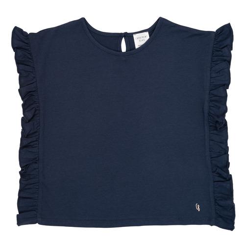 Clothing Girl short-sleeved t-shirts Carrément Beau KAMILLIA Blue
