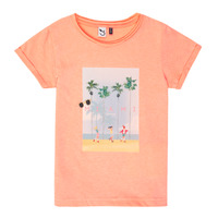 Clothing Girl Short-sleeved t-shirts 3 Pommes LEA Orange