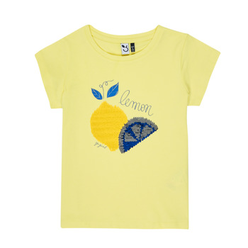 Clothing Girl short-sleeved t-shirts 3 Pommes DYLAN Yellow
