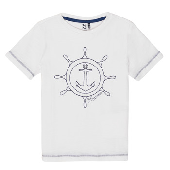 Clothing Boy Short-sleeved t-shirts 3 Pommes FLORIAN White