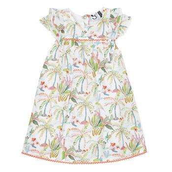 Clothing Girl Short Dresses 3 Pommes SANDRINE White