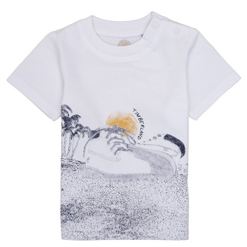 Clothing Boy short-sleeved t-shirts Timberland ANTONIN White