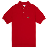 Clothing Boy Short-sleeved polo shirts Lacoste VINNIE Red