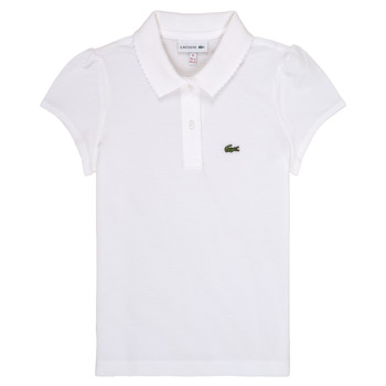 Clothing Girl short-sleeved polo shirts Lacoste CAYDEN White