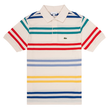 Clothing Boy short-sleeved polo shirts Lacoste HENRI Multicolour