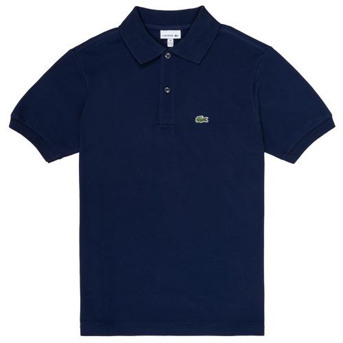 Clothing Boy short-sleeved polo shirts Lacoste CYRINNE Marine