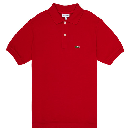 Clothing Boy short-sleeved polo shirts Lacoste ANAICK Red