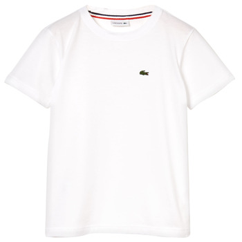Clothing Boy short-sleeved t-shirts Lacoste ALIZE White