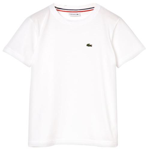 Clothing Boy Short-sleeved t-shirts Lacoste ALIZE White
