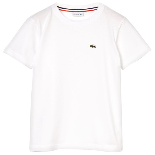 Clothing Boy Short-sleeved t-shirts Lacoste APAULINE White