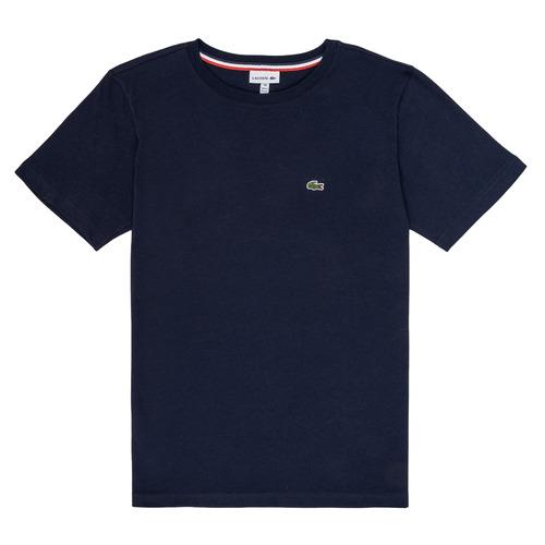 Clothing Boy Short-sleeved t-shirts Lacoste JUSTYNE Marine