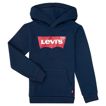 Clothing Boy Sweaters Levi's BATWING SCREENPRINT HOODIE Marine
