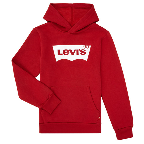 Clothing Boy Sweaters Levi's BATWING SCREENPRINT HOODIE Red