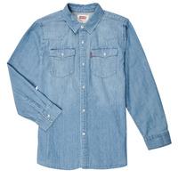 Clothing Boy Long-sleeved shirts Levi's BARSTOW WESTERN SHIRT Blue