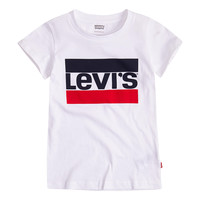 Clothing Girl Short-sleeved t-shirts Levi's SPORTSWEAR LOGO TEE White