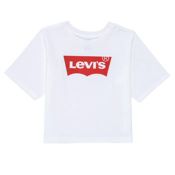 Clothing Girl Short-sleeved t-shirts Levi's LIGHT BRIGHT HIGH RISE TOP White