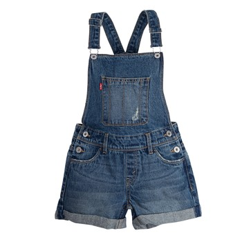 Clothing Girl Jumpsuits / Dungarees Levi's SHORTALL Blue