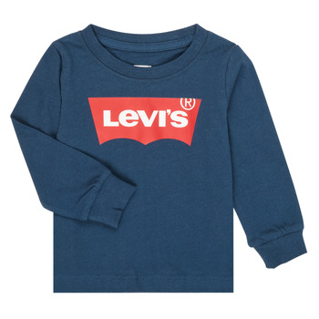 Clothing Boy Long sleeved tee-shirts Levi's BATWING TEE LS Marine