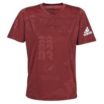 Clothing Men short-sleeved t-shirts adidas Performance DAILY PRESS TEE Red
