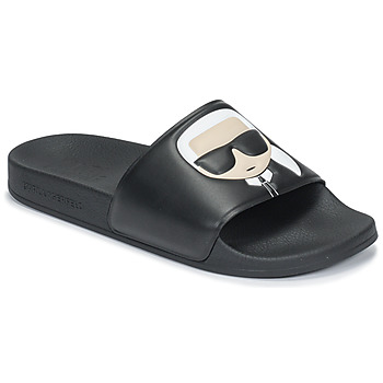 Shoes Women Sliders Karl Lagerfeld KONDO II IKONIC SLIDE Black