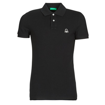 Clothing Men Short-sleeved polo shirts Benetton MARNELLI Black