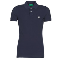 Clothing Men short-sleeved polo shirts Benetton  Marine