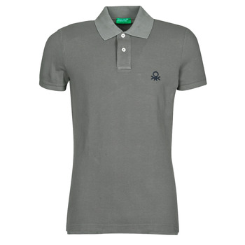 Clothing Men Short-sleeved polo shirts Benetton MARADI Grey