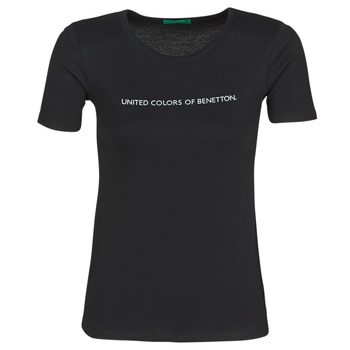 Clothing Women Short-sleeved t-shirts Benetton DORINE Black