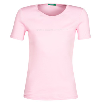 Clothing Women Short-sleeved t-shirts Benetton DOLORES Pink