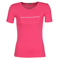Clothing Women Short-sleeved t-shirts Benetton RAYMONDE Pink