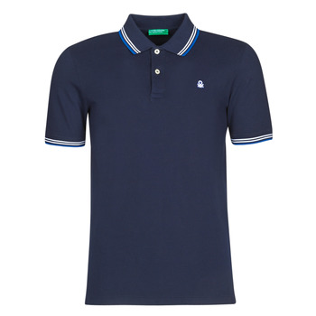 Clothing Men short-sleeved polo shirts Benetton DAVID Marine