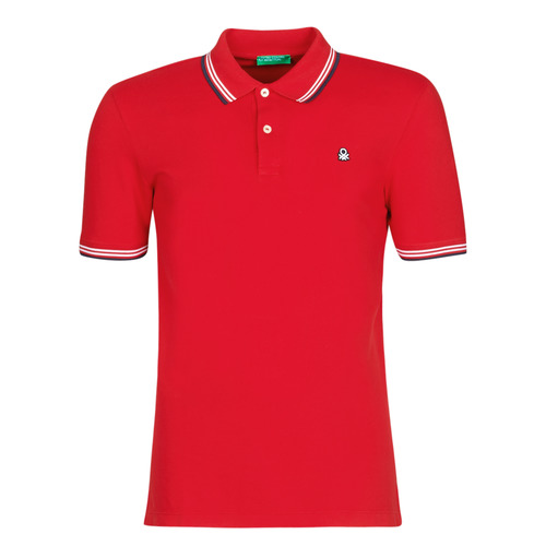 Clothing Men short-sleeved polo shirts Benetton GUERY Red