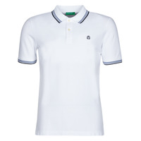Clothing Men short-sleeved polo shirts Benetton GUERAR White