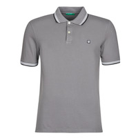 Clothing Men short-sleeved polo shirts Benetton GELISO Grey