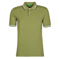 Clothing Men short-sleeved polo shirts Benetton GOELISE Kaki