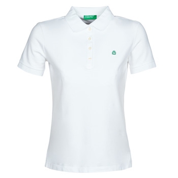 Clothing Women short-sleeved polo shirts Benetton SANDRINE White