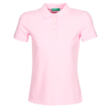 Clothing Women Short-sleeved polo shirts Benetton SOAN Pink