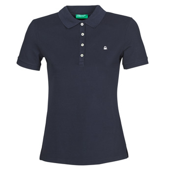 Clothing Women Short-sleeved polo shirts Benetton MANITE Marine