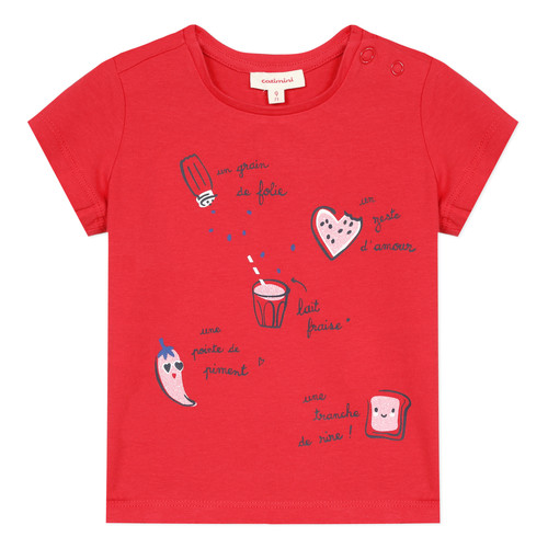 Clothing Girl short-sleeved t-shirts Catimini MUSIKOU Red