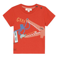 Clothing Boy short-sleeved t-shirts Catimini BARQUER Red