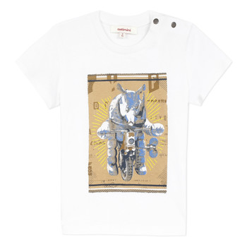 Clothing Boy Short-sleeved t-shirts Catimini LARIBI White