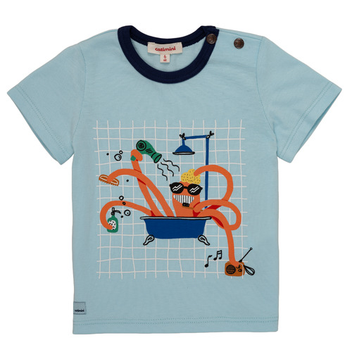 Clothing Boy short-sleeved t-shirts Catimini LEANDRE Blue